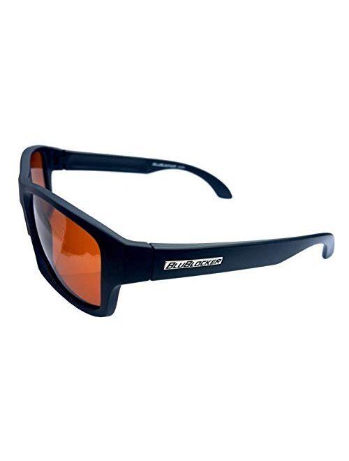 BluBlocker Black Matte Polarized Wayfarer - 4206K