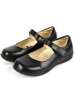 Girl's Strap School Uniform Dress Shoe Mary Jane Flat (toddler/little Kid/big Kid)