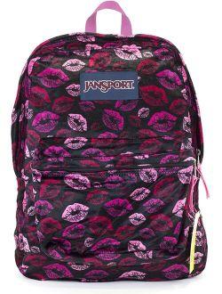 Superbreak Backpack (black Plush Lips)