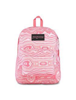 Black Label Superbreak Backpack - Lightweight School Bag-pink Geode Load Print