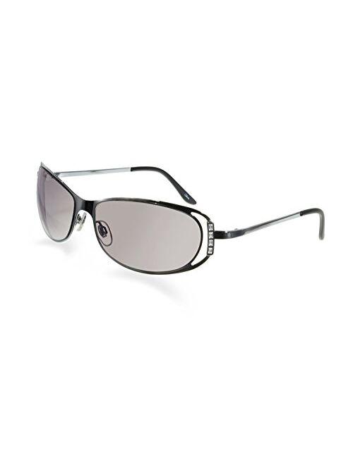 BluBlocker Bevel Edge Silver Cut-out Frame Sunglasses