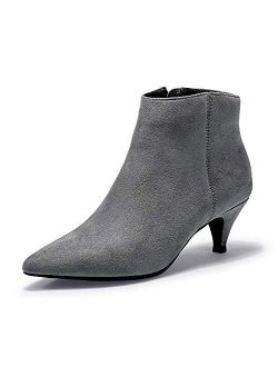 Women's Kiki Dress Pointed Toe Ankle Booties Side Zipper Low Heels Short Boots