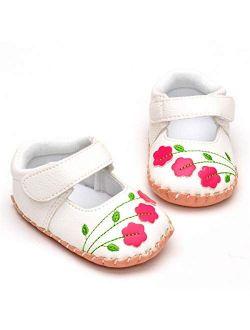 BENHERO Infant Baby Girl Dress Shoes Handmade Soft Sole No-Slip Mary Jane Princess Shoes Wedding Dress Shoes