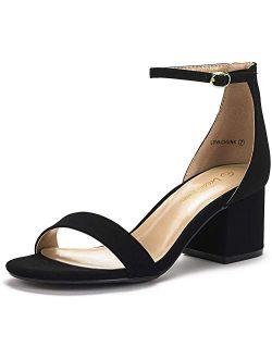 Women's Low-chunk Low Heel Pump Sandals