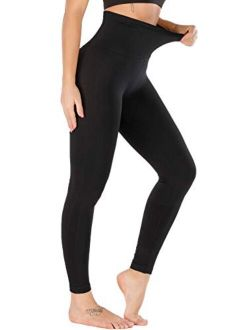 5 Inches High Waist Yoga Leggings, Compression Workout Leggings For Women Yoga Pants Tummy Control