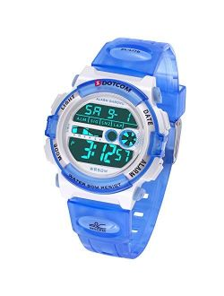 Kids Digital Watch Outdoor Sports 50M Waterproof Swimming Boys Girls Watch