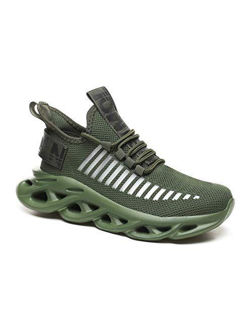 GSLMOLN Men's Women's Slip on Breathable Walking Shoes Ultra Lightweight Casual Sport Gym Fashion Sneakers