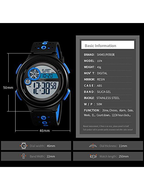 Boys Military Camo Digital Watch, Kids Colorful LED Outdoor Sports Waterproof Wristwatches with Alarm Clock Calendar Stopwatch for Kids Girls