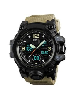 Men's Sports Watches Digital LED Face Backlight Multifunction Military Camouflage Waterproof for Boys Wrist Watch 1155