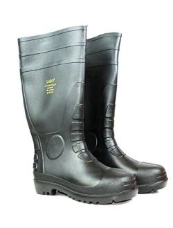 "LABO 15.5"" Mens Waterproof Winter Snow Rain Rubber Boots Slip-Resistant (M.d)"