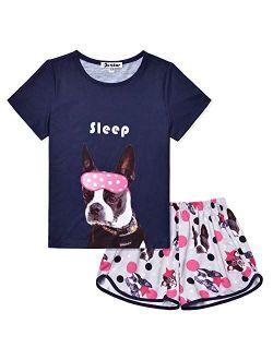 Pajamas Sets For Girls Unicorn Pjs Little Kids Summer Cotton Sleepwear