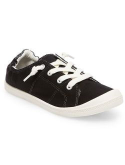 Mad Love Lennie Lace Up Canvas Scrunch Back Sneakers