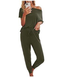 Womens Tie Dye Pajamas Set Lounge Set Short Sleeve Tops And Shorts 2 Piece Loungewear Sleepwear Pjs
