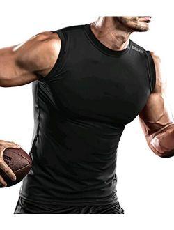 Men's Compression Shirt Tank Tops Undershirts Running Dry Cool Baselayer Sleeveless Workout Gym