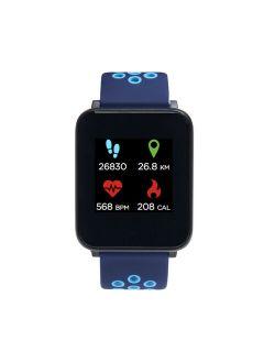 Fusion Perforated Silicone Strap Smartwatch, Color: Fuchsia/blush/silver