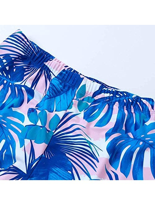 IFFEI Family Matching Swimwear One Piece Bathing Suit Newest Off Shoulder Floral Printed Ruffles Monokini