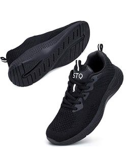 Walking Shoes Women - Breathable Athletic Tennis Sneakers For Gym Jogging Travel