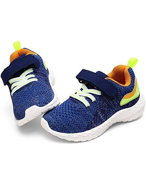 STQ Toddler Shoes for Boys & Girls Breathable Tennis Running Sneakers for Kids