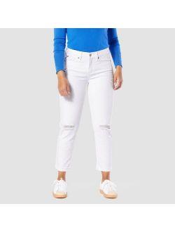 DENIZEN® from Levi's® Women's Mid-Rise Slim Fit Cropped Boyfriend Jeans