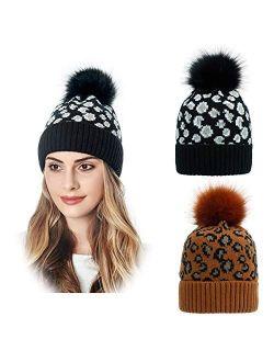 DANMY Beanie for Women Winter Hats, Knit Warm Hat, Knitted Hat Earmuffs