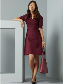 Women's Puff Sleeve Fit And Flare Dress