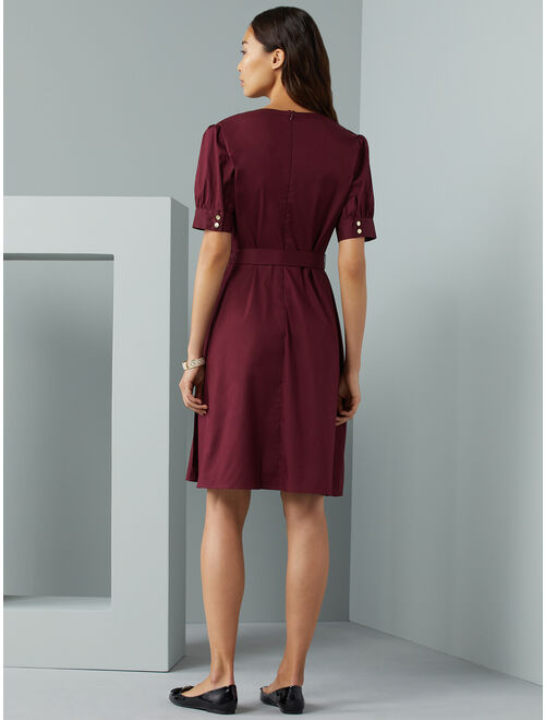 C. Wonder Women's Puff Sleeve Fit and Flare Dress