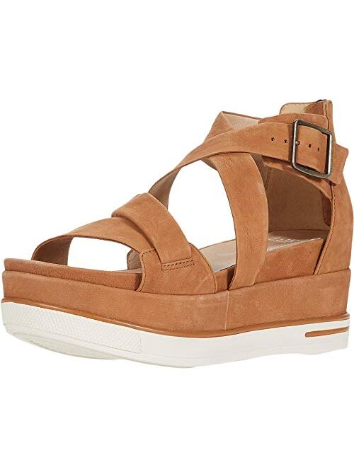 Eileen Fisher Womens Boost Washed Leather Platform Sandal
