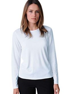 Lightweight Viscose Jersey Crew Neck Top - Style No Vfft0011m Clothing
