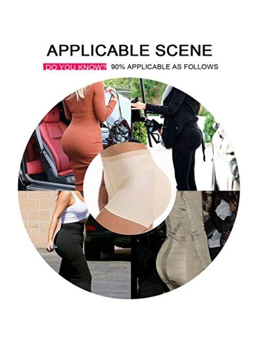 NINGMI Women Butt Lifter Briefs Panty Seamless Padded Hip Enhancer Underwear