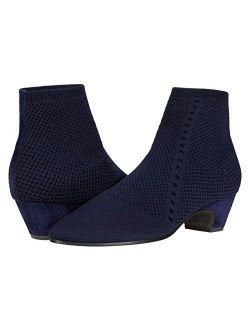 Women's Purl Knit Low-heel Booties
