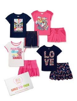 Girls Mix & Match Kid-pack, 8-piece Outfit Set, Sizes 4-10