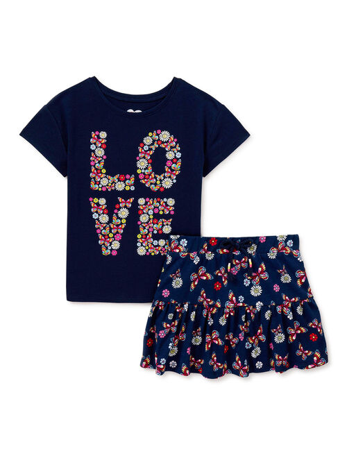365 Kids From Garanimals Girls Mix & Match Kid-Pack, 8-Piece Outfit Set, Sizes 4-10