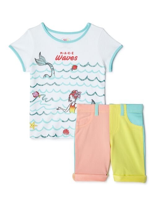 365 Kids From Garanimals Girls Shore Party Mix & Match Kid-Pack Gift Set, 10-Piece Outfit Set, Sizes 4-10