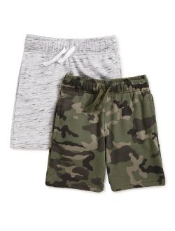 Boys 2pc Print & Solid French Terry Short, Sizes 4-10
