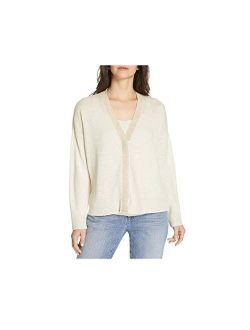 Bone Organic Linen Knit V-neck Cardigan M L Xl