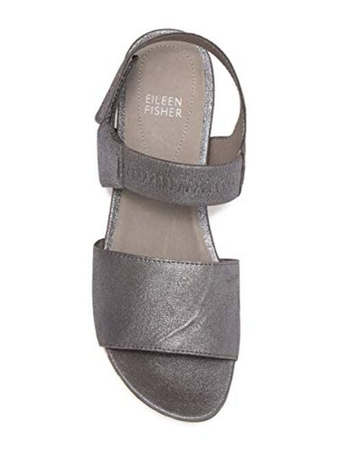 Eileen Fisher Women's Metallic Somer Banded Sandals Size