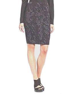Washable Wool Cotton Jacquard Skirt Xs S M L Msrp $178.00