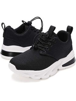 WHITIN Unisex-Child Breathable Easy On/Off Athletic Running Shoes for Little/Big Kids