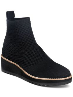 London Stretch Knit Wedge Booties
