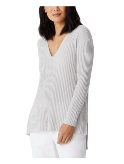 Cashmere High-Low V-Neck Tunic