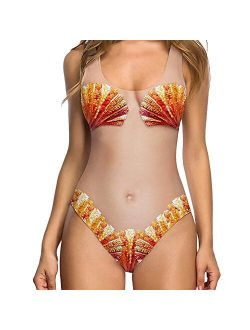 SolwDa Womens Sexy Micro Skimpy Underboob High Cut One Piece Swimsuit Funny Swimsuit Monokini