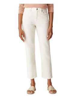 Organic High-Waisted Straight-Leg Ankle Jeans