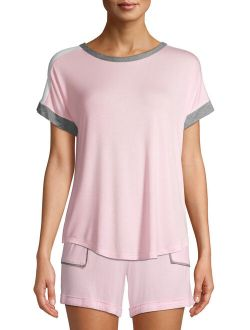 Women's And Women's Plus Short Sleeve Pajama Top