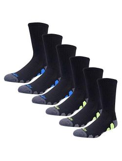 JOYNÉE Mens Athletic Crew Socks with Cushion for Running and Workout 6 Pack