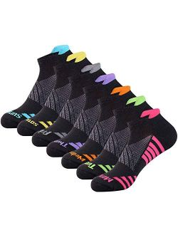 JOYNÉE Womens-Ankle-Athletic-Socks Low Cut Sports Running Socks 7 Pairs Days of the Week Socks