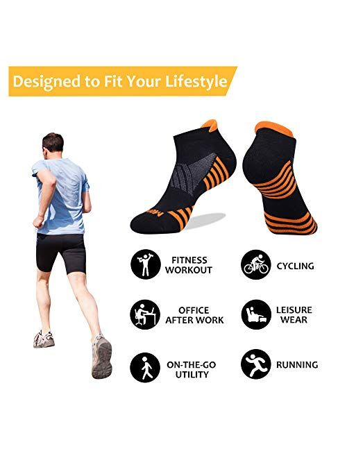 JOYNEE JOYNÉE Mens Ankle Athletic Socks Low Cut Week Socks for Sports Running 7 Pack