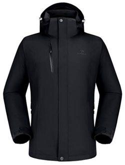 CAMEL Outdoor Jacket Men Winter Ski Jacket Windbreaker 3 in1 Hooded Rain Coat for Traveling Climbing Hiking 2.0
