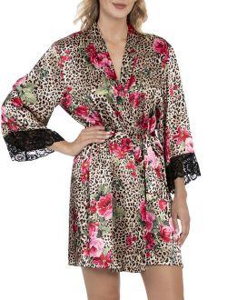 Women's And Women's Plus Satin Sleep Robe