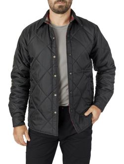 2-in1 Diamond Quilted Reversible Flannel Shirt Jacket
