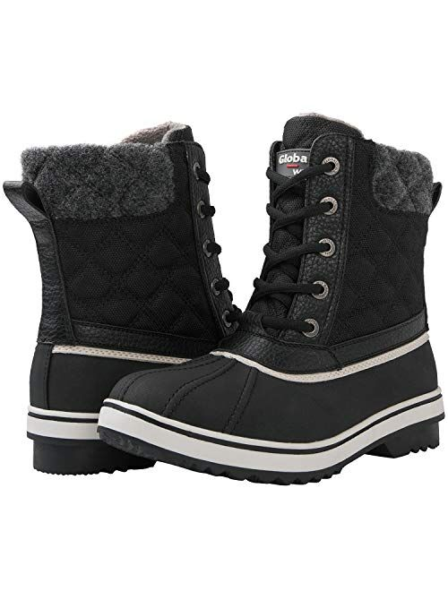 GLOBALWIN Women's Winter Ankle Snow Boots